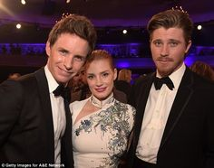 Power of three: Eddie and Jessica were joined by actor Garrett Hedlund for a chat...