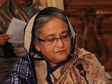 Numero quarantasette: Sheikh Hasina Wazed শেখ হাসিনা (Gopalganj, 28 settembre 1947) è una politica bengalese. Fonti: Wikipedia.