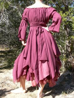 Renaissance Gypsy Clothing   Gypsy Dress Layered with Sleeves Pirate Wench Renaissance Costume ...