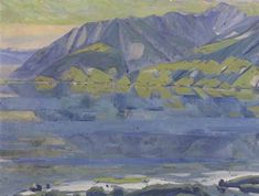 Albert Pfister  Tessiner Seelandschaft , um 1912 - 1915 Painting, Art, Switzerland, Auction, Idea Paint, Scenery, Art Production, Painting Art, Art Background