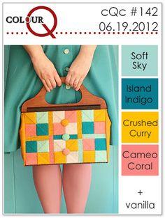 colourQ #142: June 2012 Soft Sky Island Indigo Crushed Curry Cameo Coral