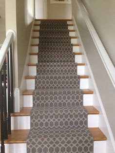 My Tuftex Geometric Modern Stair Runner. Hoping No More Spills Down The  Stairs!
