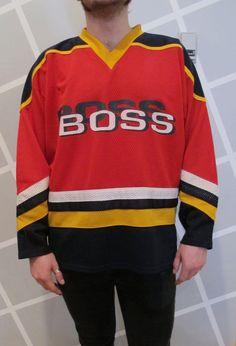 HIP HOP HOORAY 1990s Boss Hockey Jersey by Kokorokoko on Etsy, $36.00