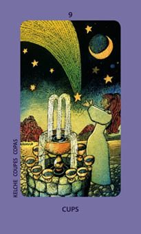 September 16 Tarot Card: Nine of Cups (Jolanda deck) This is a wonderful time of achievement, happiness, and reward. What is coming to you now is a result of the time and effort you've put in ~ you deserve good things