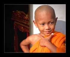 Cool little monk :-)