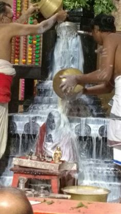 Ksheera abhishekam to Mahaperiyava @ Adishtanam on January 6,  2016