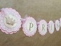 Vintage Princess Baby Shower / birthday banner by papermeblossom, $25.00