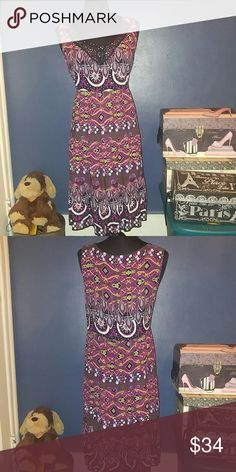 🆕Elementz Tunic Dress Girly Dress Perfect For A Spring/Summer Night Out. Abstract colorful print. Element Dresses