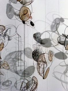 detail-Lanterns (Contemporary Sculpture, Mixed Media, Mobile)