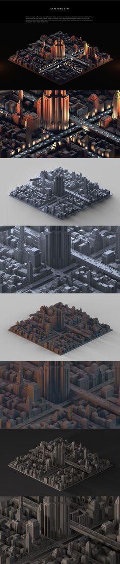Capstone City by Tomasz Artur Bolek
