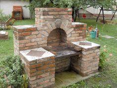 Outdoor Kitchen Plans, Outdoor Oven, Outdoor Kitchen Design, Brick Built Bbq, Brick Bbq, Fire Pit Backyard, Backyard Patio, Backyard Landscaping, Parrilla Exterior