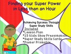 This packet is designed to provide you with everything needed to help students improve their study habits and learning for a test. Students actively participate while learning how each technique helps improve memory and learning. Included is a lesson plan, slide show presentation, activity cards, and a poster. It can easily be divided into two lessons.
