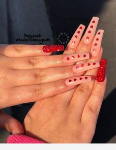 28 Casual Acrylic Nail Art Designs Ideas To Fascinate Your Admirers : Page 19 of 28 : Creative Vision Design - Emma - Acrylic nails coffin - Aycrlic Nails, Prom Nails, Matte Nails, Manicure, Stiletto Nails, Red Tip Nails, Best Acrylic Nails, Acrylic Nail Art, Coffin Nails Long