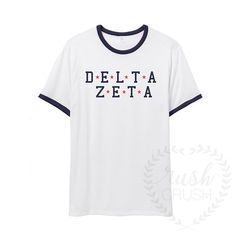 Alpha Xi Delta Shirt, Star Girl Ringer Tee, Red White and Blue Sorority Shirt, Fourth of July Shirt Delta Gamma Shirts, Gamma Phi, Big Little Sorority Shirts, Flower Girl Shirts, Mustard Shirt, Fourth Of July Shirts, Star Girl, Ringer Tee, Family Shirts