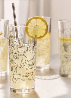 Shop Kitty Highball Glass - Set Of 4 at Urban Outfitters today. We carry all the latest styles, colors and brands for you to choose from right here.