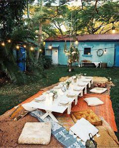30 Modern Bohemian Garden Design ideas For Backyard Outdoor Dining, Outdoor Spaces, Outdoor Decor, Garden Cottage, Home And Garden, Land Scape, Interior And Exterior, Sweet Home, Beautiful