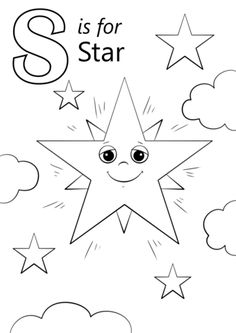 Letter S Is For Star Coloring Page From Category Select 26401 Printable