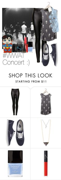 """#WWAT Concert :)"" by victoria7100 ❤ liked on Polyvore featuring Topshop, Pull&Bear, Vans, With Love From CA, Butter London, NARS Cosmetics, Missguided and Samsung"