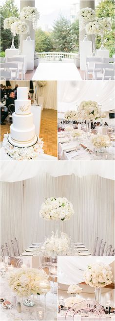 Featured Photographer: Simply Sweet Photography; White wedding reception idea