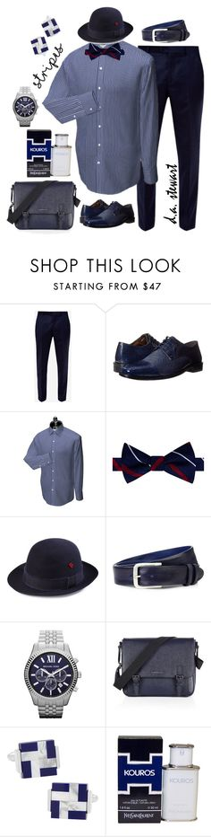 """""""D.A. Stewart Style"""" by dastewart ❤ liked on Polyvore featuring Ted Baker, Stacy Adams, Tommy Hilfiger, My Bob, Elliot Rhodes, Michael Kors, Burberry, Yves Saint Laurent, men's fashion and menswear"""