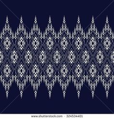 Geometric Ethnic pattern design for background,carpet,wallpaper,clothing,wrapping,Batik,fabric,Vector illustration.embroidery style. Pattern Art, Pattern Design, Print Design, Thai Design, Ethnic Patterns, Black Fabric, Illustrations, Royalty Free Photos, Images