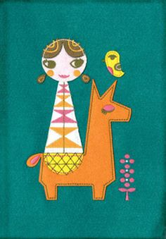Happy Trails Felt Doll Journal by Suzy Ultman