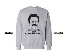 Ron Swanson Sweatshirt #parksandrec #ronswanson www.etsy.com/listing/165262489/ron-swanson-sweatshirt-parks-and-rec