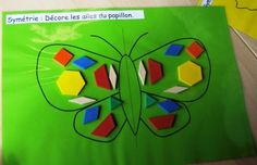 Symmetry activity second phase Symmetry Activities, Preschool Activities, Minibeasts Eyfs, Early Years Maths, All Things Wild, Butterfly Life Cycle, Math School, Spring Theme, Very Hungry Caterpillar