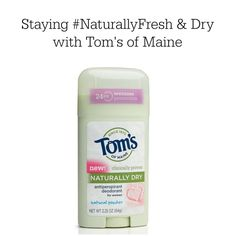 I'm training for a half marathon, and Tom's of Maine is helping me stay #FreshNaturally. #cbias #shop