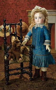 The Memory of All That - Marquis Antique Doll Auction: 26 Charming French Brown Faux Fur Poodle as Candy Container