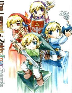 Four Swords by ~ImAnAnimedrawer on deviantART