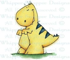 Tiny T-Rex - Dinosaurs - Animals - Rubber Stamps - Shop