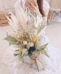 Dried Flower Bouquet, Dried Flowers, Wedding Bouquets, Wedding Flowers, Wedding Dresses, Bridal Collection, Garland, Flora, Wedding Photos