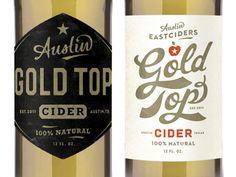 Gold Top cider labels