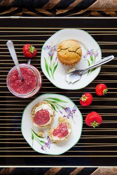 Quinoa Scones & Strawberry Chia Jam -  Too labor intensive for me but would love to eat them.