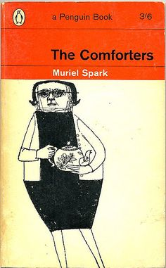 The Comforters by Muriel Spark. 1963. cover drawing by Terence Greer. Penguin Books. (vintage art, illustration, illustrator)