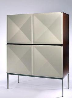 Pointe de Diamant Cabinet With Bookcase, Model 1307, Antoine Philippon And Jacqueline Lecoq, 1962.