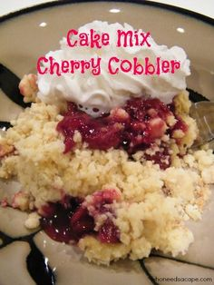 Cake Mix Cherry Cobbler the easiest and tastiest dessert that you can make with ingredients from your pantry. You'll be amazed at how simple this recipe is.