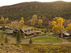 The rustic-chic main lodge houses the property's main gathering spaces - Colorado ranch