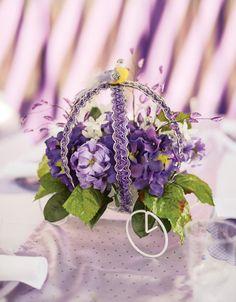 Flower carriage centerpiece