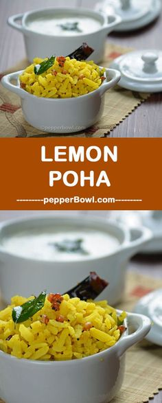 This Lemon Poha recipe is a great breakfast recipe which gives full fealing and can also be served in the evening for the kids who returns home hungry. Healthy Dinner Recipes, Indian Food Recipes, Asian Recipes, Breakfast Recipes, Sauce Recipes, Diet Recipes, Cooking Recipes, Recipies, Poha Recipe