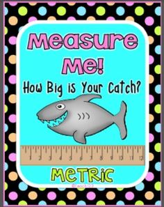 This ocean-themed metric measurement center is aligned with 1st and 2nd grade Common Core Standards.Students will practice measuring to the nearest half centimeter. #MetricMeasurementCenter  #OceanCenter $