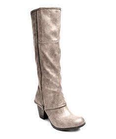 Another great find on #zulily! Taupe Luca Wide-Calf Boot #zulilyfinds