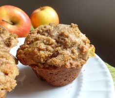Brittany Cooks: Whole Wheat Apple Muffins