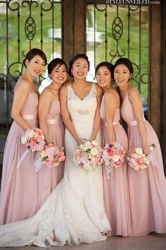 OBSESSED with these bridesmaid dresses