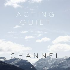 Album cover I did for my band Acting Quiet. Listen to the song on SoundCloud here: http://snd.sc/1525Hmc