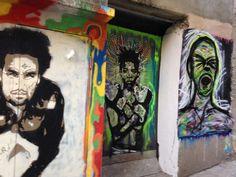 street art dans une ruelle d'Ajaccio