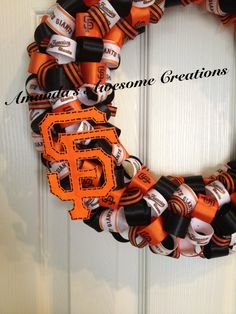 San Francisco Giants Baseball Ribbon Wreath by AmandasCreations11, $40.00