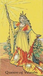 Kristal Kira presents Robin Wood Tarot Queen of Wands Card.