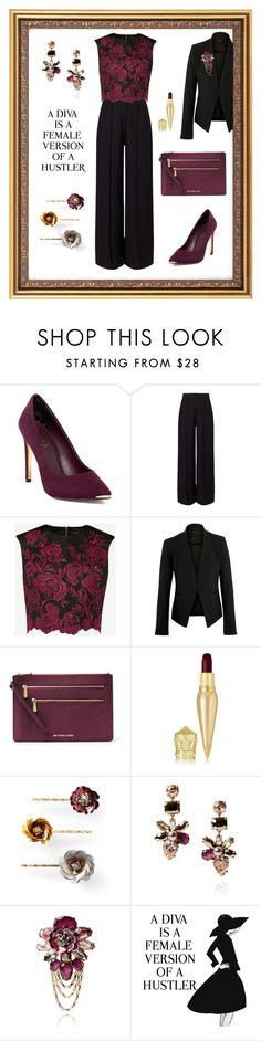 """""""A Diva is a female version of a hustler"""" by stylez-by-bee ❤ liked on Polyvore featuring Ted Baker, Miss Selfridge, Theory, MICHAEL Michael Kors, Christian Louboutin, Chloe + Isabel, WALL and modern"""